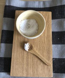salt ske i træ